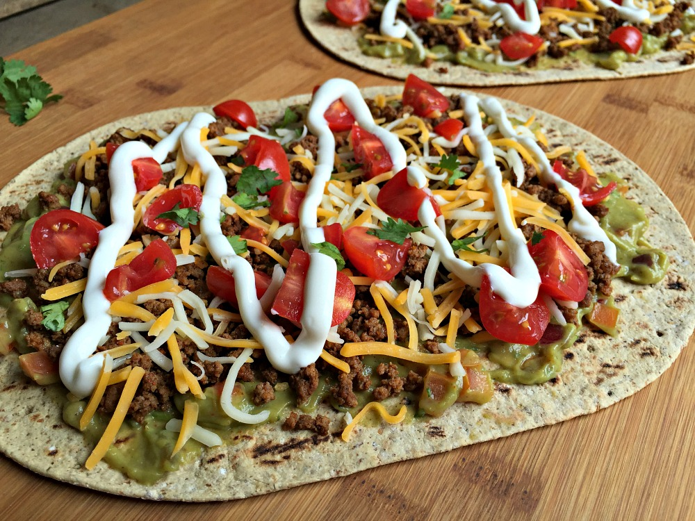 "Mexican ""Flatbread"" Pizza Recipe — Dishmaps"
