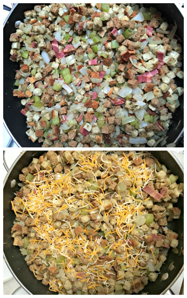 how to make turkey stuffing with bacon